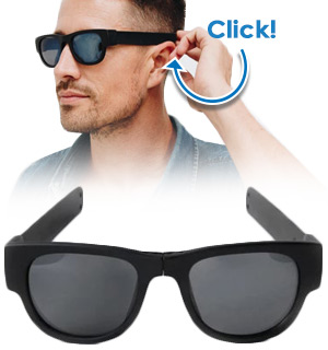 SlapSee Foldable Sunglasses W/ 100% UV Protection - #9056