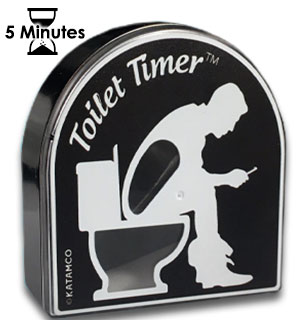 5 Minute Toilet Timer for Poo-Crastinators - #9071