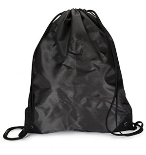 Black Drawstring Backpack - #9080
