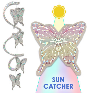 Butterfly Spiral Sun Catcher For Indoors And Outdoors - #9081