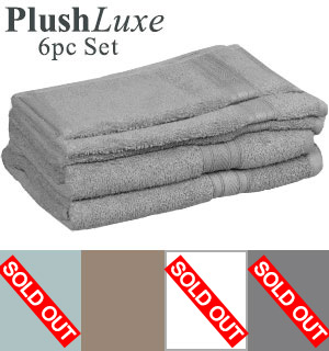 PlushLuxe  6-Piece Bath Towel Set