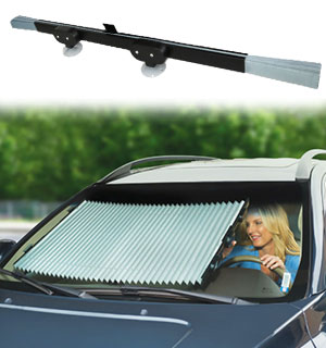 Retractable 55in Auto Sunshade - Keeps Your Car Cool - #9091