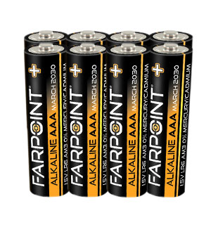 Farpoint Alkaline Premium Plus AAA Batteries - 8-Pack