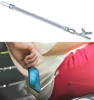 Smartphone Anti-theft Cable with Clip - #9099