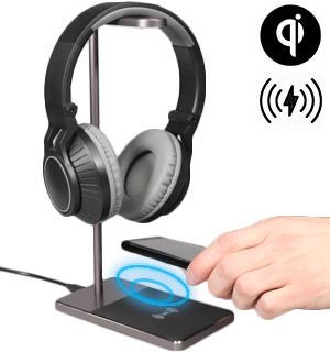 Headphones Stand with Wireless Charging Base - #9101