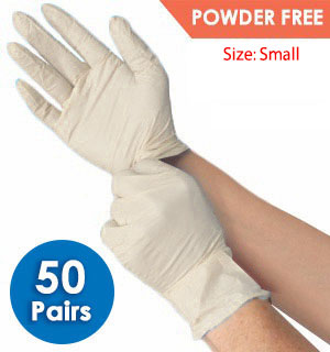 50 Pairs of Disposable Vinyl Gloves - Powder-Free - #9102