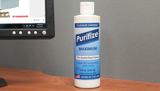 2-Pack of Purifize 8 oz Hand Cleaner - Exceeds CDC Recommendations for Cleaning and Sanitizing