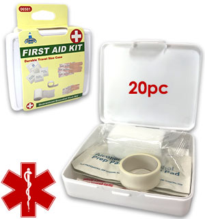Travel Sized First Aid Kit - 20 pc - #9108
