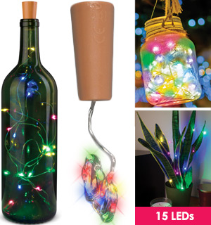 Colored LED String Lights for Glass Bottles - #9111