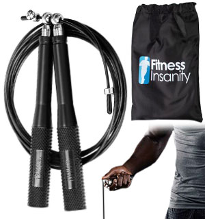 Adjustable 6ft Fitness Jump Rope with Travel Pouch - #9113