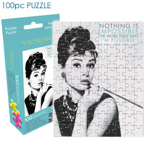 Audrey Hepburn 100pc Jigsaw  Pocket Puzzle