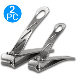 Wide Jaw Curved Cut Nail Clippers - 2 Pc - #9126