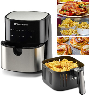 Toastmaster 5 Quart Air Fryer w/ Rapid Heat Convection Technology - #9130