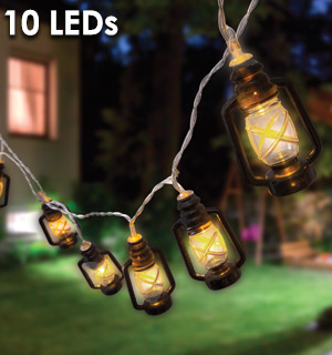 10 Mini LED Lantern String Lights - #9133