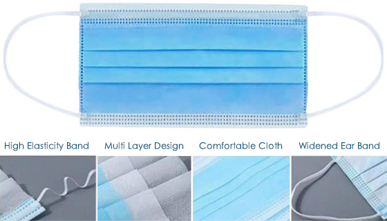 20-Pack of 3-Layer Disposable Non-Medical Face Masks w/ FREE 8oz Bottle of Purifize