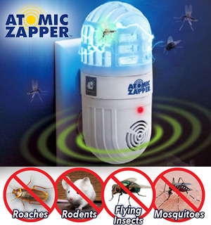 The 2-in-1 Atomic Bug Zapper and Ultrasonic Rodent Repeller - #9141