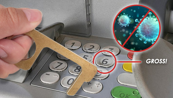 Anti-Microbial Zero-Touch Key: Contactless Brass Door Opener Tool
