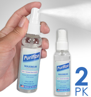 Purifize 2 oz Spray Hand Sanitizer and Surface Cleaner - MADE IN THE USA - #9152-SPRAYA