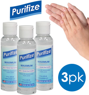 3-PK of Purifize 2oz Hand Sanitizer - Made in the USA - #9152A