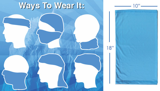 The Chilly Wrap Stay-Cool Neck Gaiter and Instant Face Mask
