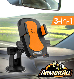 3-in-1 Suction Cup Phone Mount by Armor All - #9182