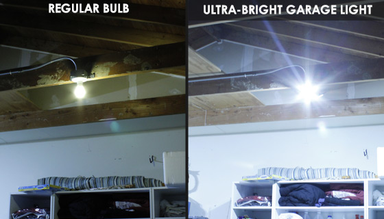 Ultra-Bright Triple Panel Garage and Ceiling Light: 6000 Lumens