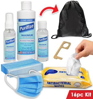 The Ultimate On-the-go 16pc Sanitizer Kit - #9191
