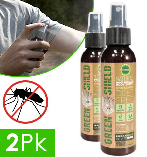 Green Shield Safe And Natural DEET Free Insect Repellent  2-Pack - #9192A