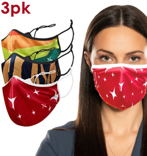 3-Pack of Reusable Masks (Rainbow, Tiger, Sparkles) - #9194