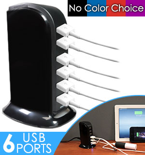 6 Port InstaCharge USB Tower - #9214