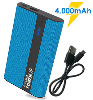 4000mAh Fabric Portable Power Bank