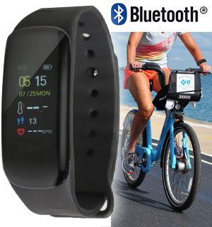 Smart Activity Bracelet W/ Live Body Temperature Tracking - #9249