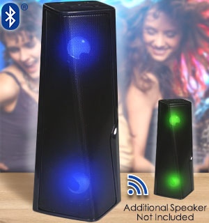 Bluetooth Light-Up Multimedia Speaker with True Wireless Pairing