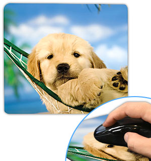 Puppy in a Hammock Mouse Pad