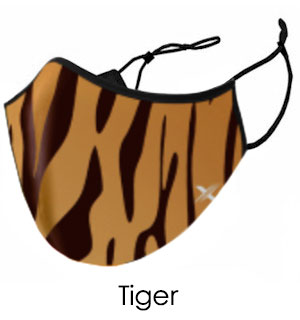 Tiger Striped Face Mask - Reusable W/ Fi… - #9255