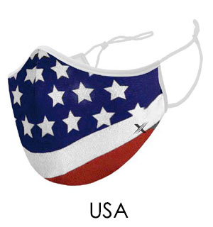 USA Flag Reusable Easy Breathe Mask - #9269