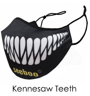 Teeth Face Mask - Reusable W/ Filter Pocket