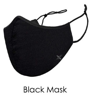 Solid Black Cloth Face Mask - Reusable W/ Filter Pocket