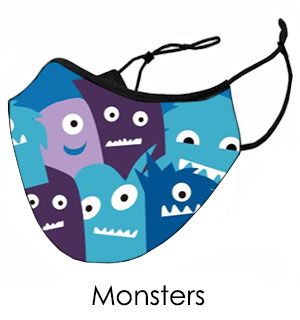 Little Monsters Face Mask - Reusable W/ … - #9301