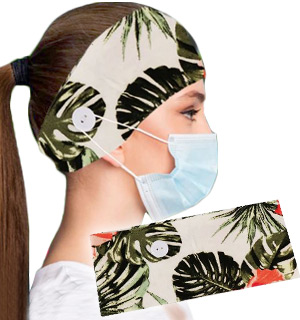Tropical Women's Stretchy Headband with … - #9310