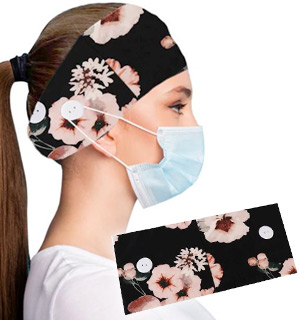 Flower Women's Stretchy Headband with Bu… - #9312