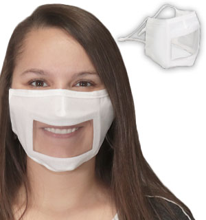 Clear Face Masks - Great for Hearing Imp… - #9322