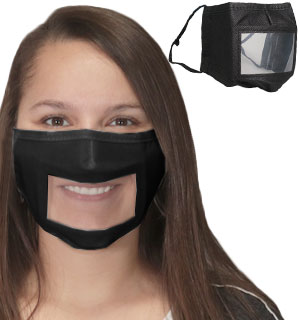 Clear Face Masks - Great for Hearing Imp… - #9323