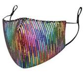 Multi-Color Sequin Mask