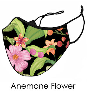 Anemone Flower Face Mask - Reusable W/ F… - #9371
