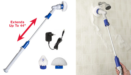 Quickie Tub N' Tile Power Extendable Scrubber For Bathrooms, Kitchens and More