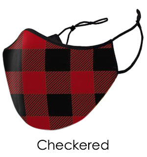 Red and Black Checkered Face Mask - Reusable W/ Filter Pocket