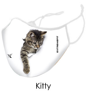 Kitty Face Mask - Reusable W/ Filter Pocket