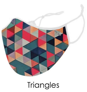 Triangle Geometric Face Mask - Reusable … - #9408