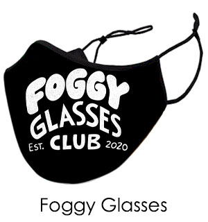 Foggy Glasses Club Face Mask - Reusable … - #9409